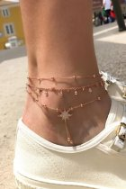 Dokifans Tassel Design Star Gold Body Chain