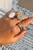 Dokifans Fashion 3-piece Gold Ring