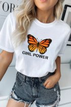 Dokifans Butterfly Print Girl Power T-shirt (2 Colors)