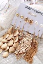 Dokifans Fashion Tassel Design Gold Earring