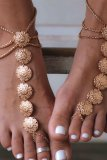 Dokifans Stylish Hollow-out Gold Anklet
