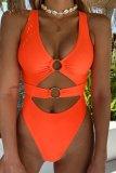 Dokifans Hollow-out CrociOne-piece Swimsuit