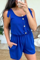 Dokifans Buttons Design Blue One-piece Romper