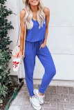 Dokifans Basic Lace-up Pockets One-piece Jumpsuit (2 Colors)