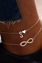 Dokifans Letter Silver Body Chain