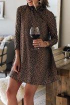 Dokifans Leopard Print Mini Dress