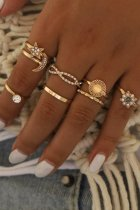 Dokifans 8-piece Gold Ring