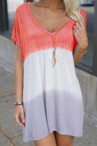Dokifans Tie-dye Print Loose Mini Dress (3 Colors)