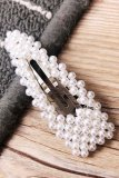 Dokifans Pearl Hollow-out Silver Hairpin