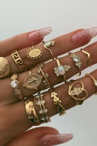 Dokifans 15-piece Gold Ring