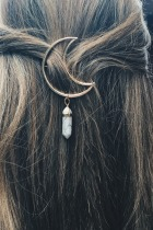 Dokifans Moon Multicolor Hairpin