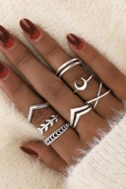 Dokifans 7-piece Silver Ring