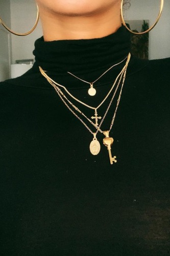 Dokifans Multilayer Gold Necklace