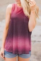 Dokifans Tie-dye Print Pocketed Tank Top (2 Colors)