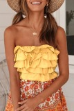 Dokifans Layered Cascading Ruffle Tank Top (3 Colors)