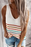 Dokifans Rainbow Striped Design Tank Top (3 Colors)