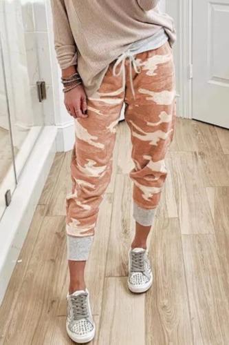 Dokifans Lace-up Camo Print Pants (2 Colors)