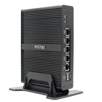 4 LAN Fanless Mini Firewall PC