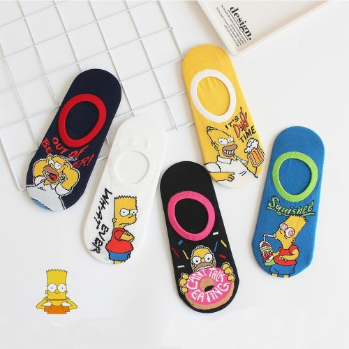 Women Socks Japanese Summer Kawaii Harajuku Boat Socks Female Casual 3D Cartoon Animal Cute Invisiable Slippers Girl Ankle Socks