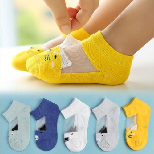 5 Pair=10PCS/lot Dot Kids Socks Summer Thin Comfortable Breathable Cotton Fashion Baby Socks Toddler Girls for 0~6 Year 2019 New