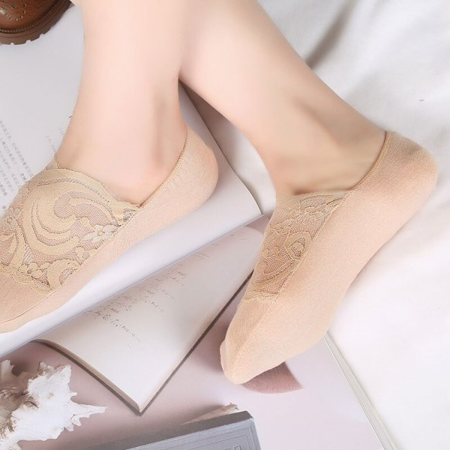 SP&CITY New Transparent Short Lace Socks Women Summer Hollow Out Boat Socks Slippers Female Soft Low Invisible Socks Ped