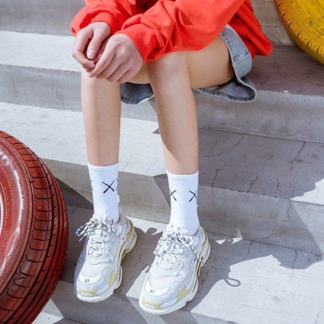 harajuku happy funny  fashion gifts for men women socks hip hop winter cotton  2pc sock