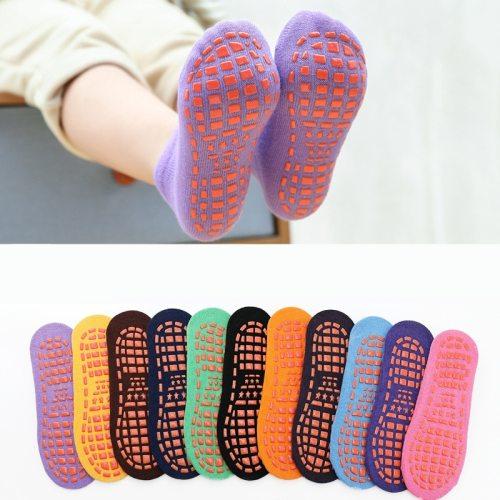 Autumn Winter Spring Summer Breathable Non-slip Floor Socks Boy Girl Socks Home Baby Kids Socks Cotton Candy Color Ankle Socks
