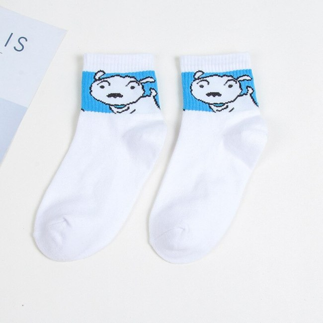 Fashion Cartoon Character Cute Short Socks Women Harajuku Cute Patterned Ankle Socks Funny Hipster Skatebord Ankle Female Sox