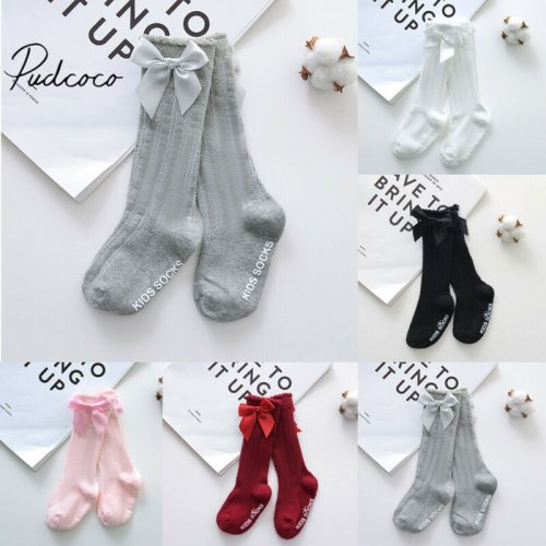 2019 Baby Summer Clothing New Kids Toddlers Girls Big Bow Knee High Long Soft Cotton Lace Baby Socks Bowknot 100% Cotton Socks