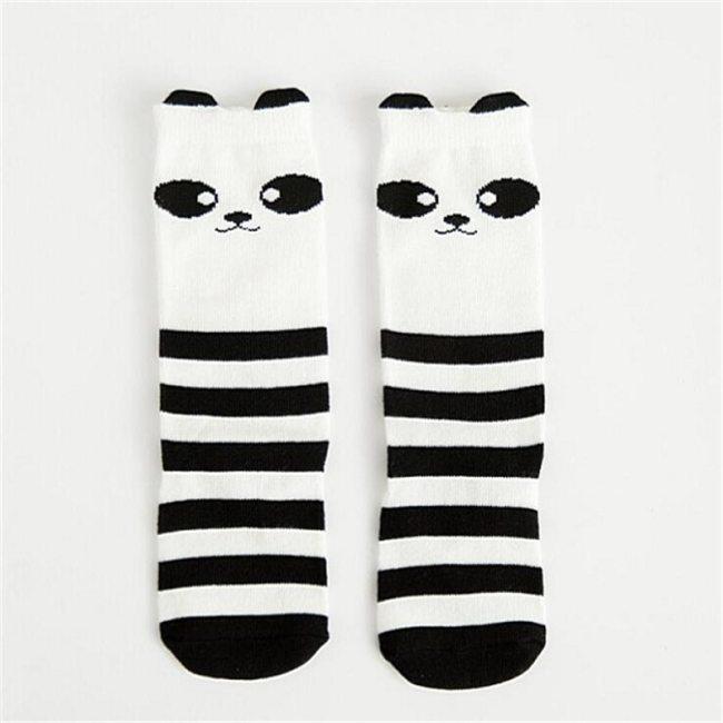 1 Pair Unisex Lovely Cute Cartoon Fox Kids baby Socks Knee Girl Boy Baby Toddler Socks animal infant Soft Cotton socks 0-3 Y