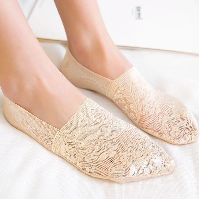1 Pair Fashion Women Girls Summer Socks Style Lace Flower Short Sock Antiskid Invisible Ankle Socks 2019 New 7 colors