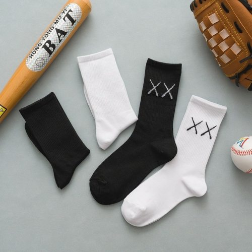 harajuku happy funny  fashion gifts for men women socks hip hop winter cotton  2pc sock