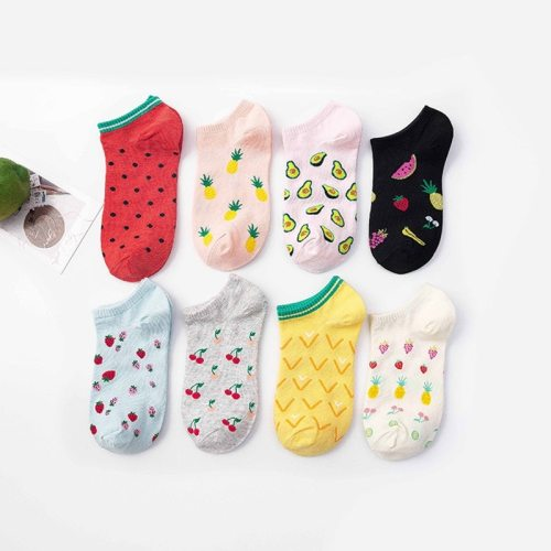 SP&CITY Cheap Cartoon Fruit Ankle Socks Women Cotton Colored Short Socks Female Casual Summer Thin Boat Socks Fashion Hipster
