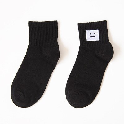 New Harajuku Women's Socks Japan Retro Embroidery Rose Cactus Cotton Literary Funny Socks for Female Gift