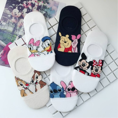 Women Socks Cute Cartoon Breathable Soft Kawaii Short Ankle Socks Summer Mouse Cat Duck New Creative Pattern Street Trend Style