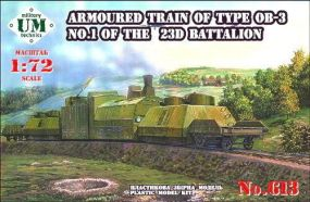 UMmt 1/72 613 WWII Soviet Red Army Armored Train Type OB-3 No.1 23rd Battalion
