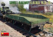 MiniArt 1/35 35303 WWII Soviet Red Army Railway Flatbed 16.5-18 Ton