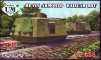 UMmt 1/72 638 WWII Soviet Red Army Armored Railcar BDT (45mm Gun on Turret)
