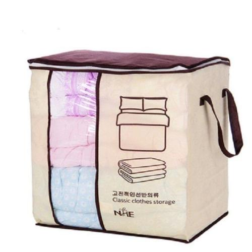 Clothes Quilts Divider Organizer High Capacity Folding Bamboo Bags