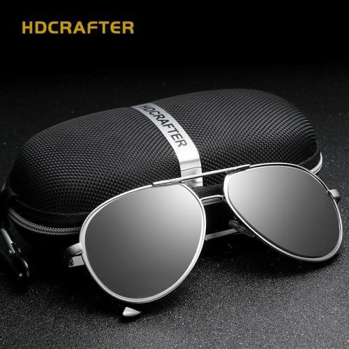 Driving Men's Polarized  Vintage Pilot Sun Glasses With Box