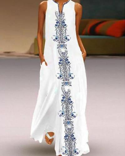Vintage Summer Folkways Summer Maxi Dresses