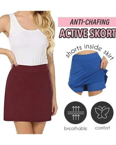 ANTI-CHAFING SLIM ACTIVE SKORT