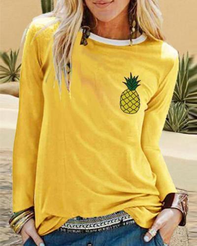 Paneled Long Sleeve Cotton-Blend Shirts & Tops