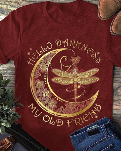 Dragonfly Printing Design Short Sleeve T-shirt