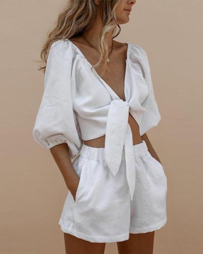 Cotton And Linen Summer Fashion Suit