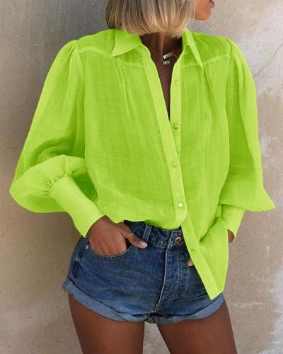 Fall And Summer Women's Explosion Long Sleeve Blouse Loose Top