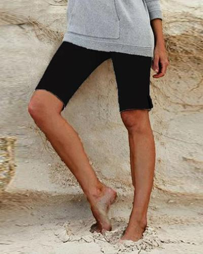 Summer Solid Color Casual Short Pants