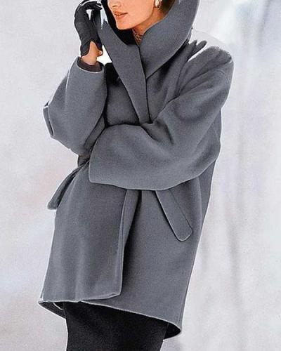 New Warm Fashion Double-faced Fabric Multi-Color Shawl Collar Coat