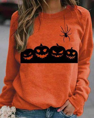 Halloween Print/Tie Dye Sweatshirt