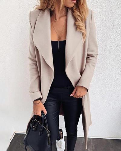 Women's Casual X-Line Lapel Coat